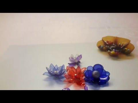 КАК СДЕЛАТЬ ЦВЕТОК ИЗ ПЛАСТИКОВОЙ БУТЫЛКИ .flower from a plastic bottle.