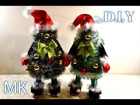 🎄Елочки-Санты своими руками🎄/DIY/Tutorial/🎄How To Make Christmas Tree🎄