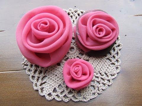 Цветы роз из ткани своими руками - модное украшение.