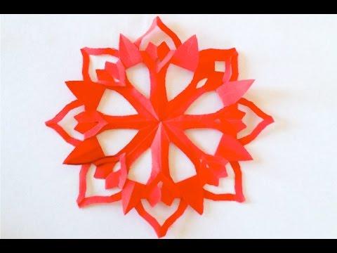 DIY. Как вырезать красивые снежинки киригами