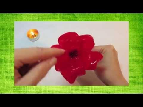 Цветы из пластиковых ложек