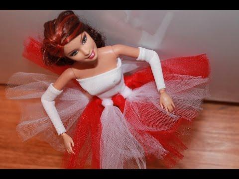 Одежда для куклы. Шьем платье балерины для Барби. \ How make Ballerina dress for Barbie Doll