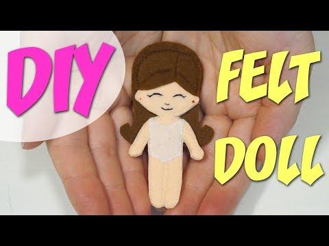 DIY ❤ Куколка из фетра своими руками ❤ Мастер-класс