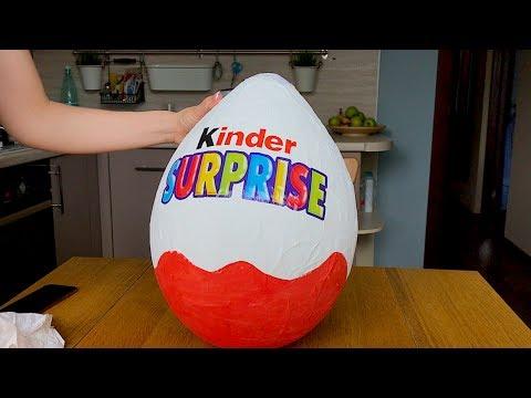 Как сделать большое яйцо киндер сюрприз для детей своими руками DIY