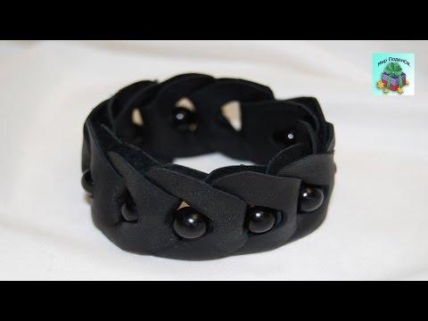 ПРОСТОЙ БРАСЛЕТ ИЗ КОЖИ СВОИМИ РУКАМИ. КАК СДЕЛАТЬ КОЖАНЫЙ БРАСЛЕТ Leather bracelet (DIY, Handmade).