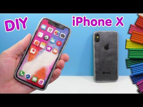 ЛЕПИМ iPhone X - АЙФОН 10 ИЗ ПЛАСТИЛИНА | Видео Лепка