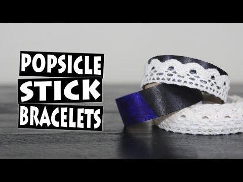 DIY Amazing Popsicle Stick Bracelets