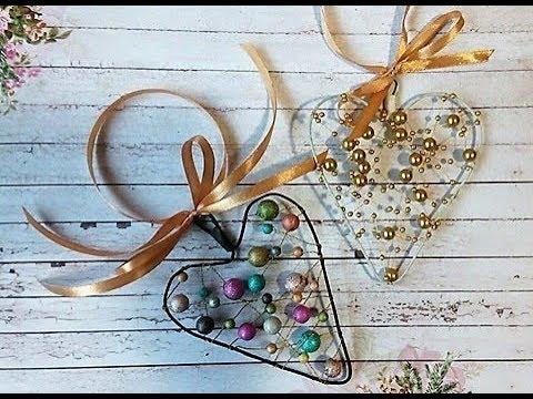 Новогодние игрушки своими руками из проволоки и бусин DIY/ Нandmade сhristmas decorations
