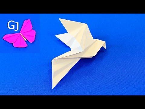 Оригами Голубь мира из бумаги