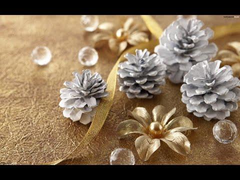 Снежинка из сосновых шишек!Новогодний декор!Своими руками