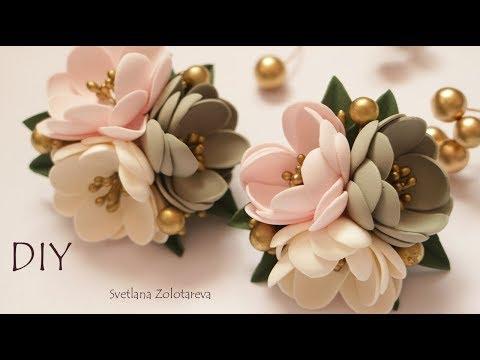 Резиночки для волос Простые Цветы из фоамирана