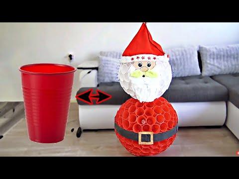 DIY Santa Claus from CUPS | Christmas decor