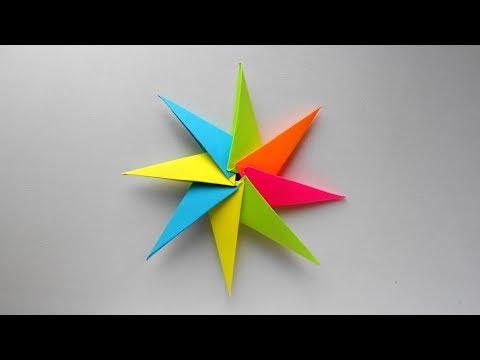 Звезда из бумаги Модульная оригами Звезда