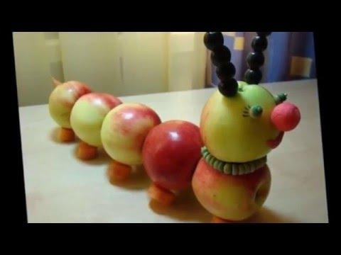 Интересные поделки из фруктов и овощей для детей