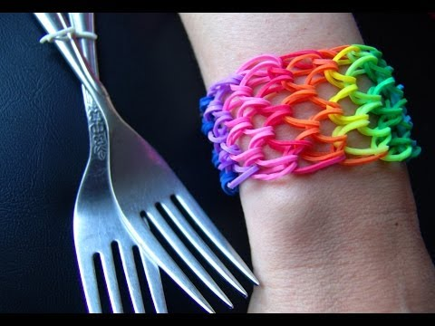 Как сделать браслет из резинок №27. Чешуя Дракона. Rainbow loom bracelet. Dragon scale.