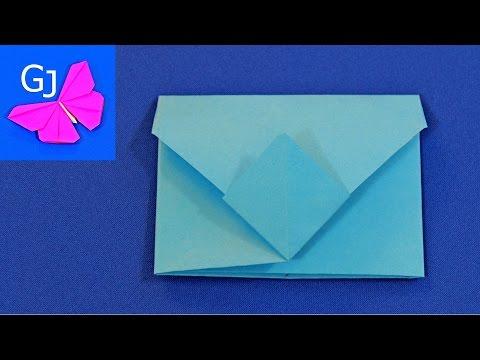 Оригами из бумаги Конверт с застежкой