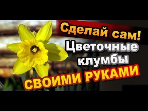 Клумба для цветов на даче из чурбана своими руками