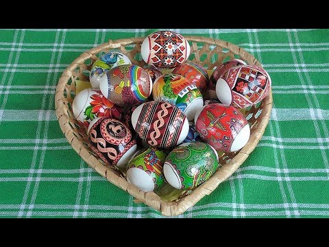 Пасхальные яйца Термонаклейки How to make beautiful Easter eggs.Thermal labels