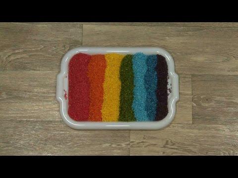 Как окрасить рис или другие виды круп для создания развивающих сенсорных коробок