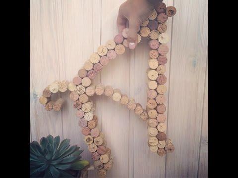 Буква из винных пробок (мастер-класс) DIY letter
