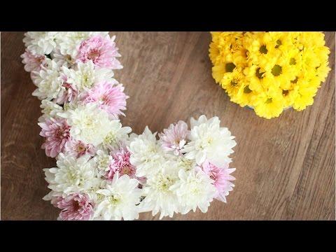 DIY: Буква, коробочка из живых цветов