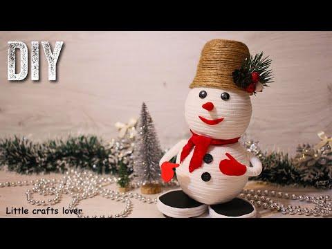 НОВОГОДНИЕ ПОДЕЛКИ. Зимние поделки своими руками. Снеговик своими руками. DIY Christmas crafts.