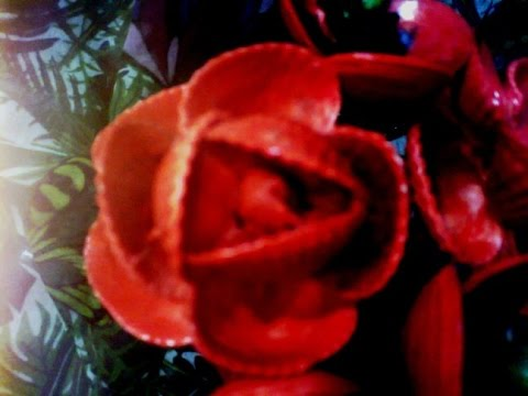Поделки из ракушек Роза