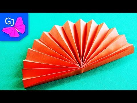 Оригами Веер из бумаги