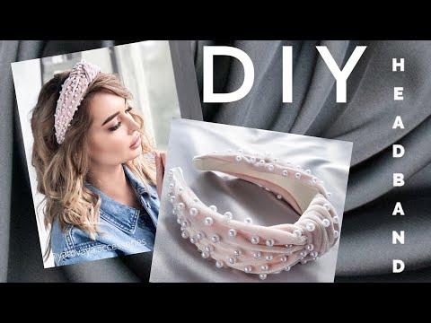#МК - Ободок с узлом с жемчугом| #Tutorial - knot headband with beads