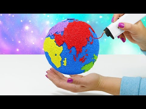 3D РУЧКА РИСУЮ ГЛОБУС СВОИМИ РУКАМИ | ЛАЙФХАКИ ДЛЯ ХЕНДМЕЙДА 3D SIMO MINI
