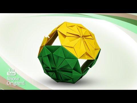 Самый Простой Кусудама-шар из бумаги - оригами