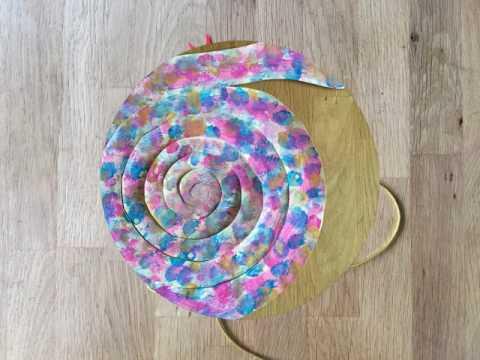 Змея из бумаги - детская поделка