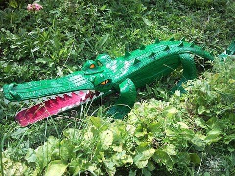 Как сделать поделку из шины - крокодил. Мастер класс