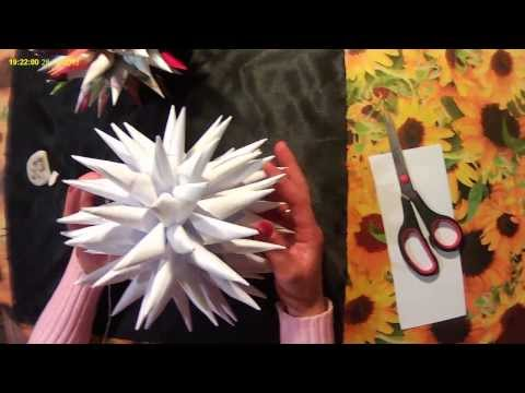 Оригами, шар из бумаги. Origami, ball out of paper.