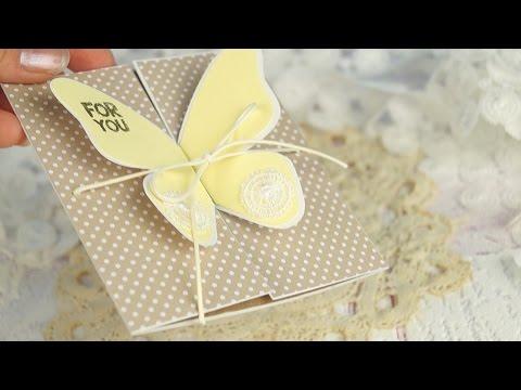 Скрапбукинг / Открытка с бабочкой своими руками