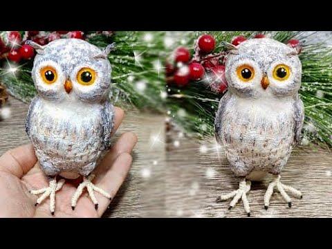 Как сделать СОВУ своими руками БЫСТРО и ПРОСТО.Поделки.Craft.OWL.DIY.