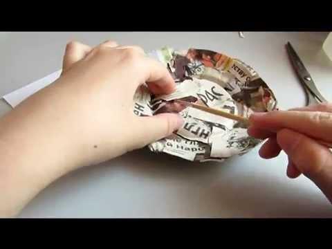 DIY Папье-маше тарелка/МК