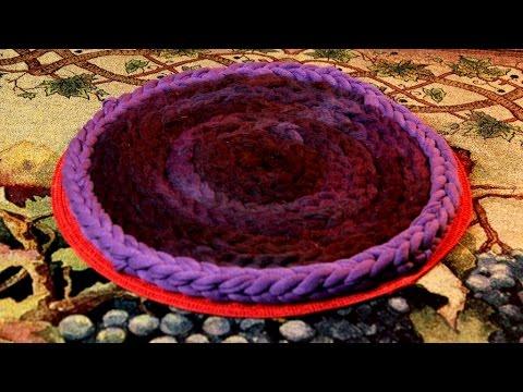 Как сделать круглый коврик из старых футболок