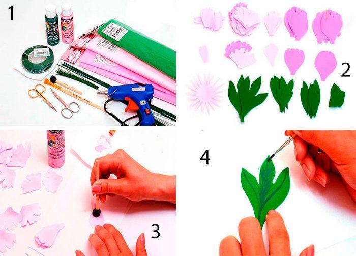 12-2-700x503 Роза из фоамирана (70 фото): как сделать своими руками, идеи и мастер-классы