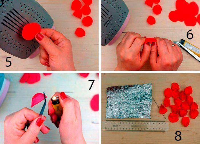 5-7-700x503 Роза из фоамирана (70 фото): как сделать своими руками, идеи и мастер-классы