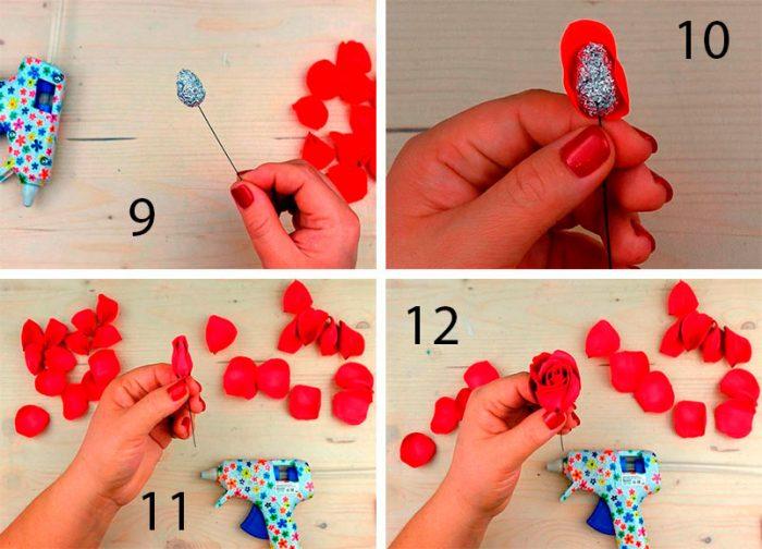 6-7-700x504 Роза из фоамирана (70 фото): как сделать своими руками, идеи и мастер-классы