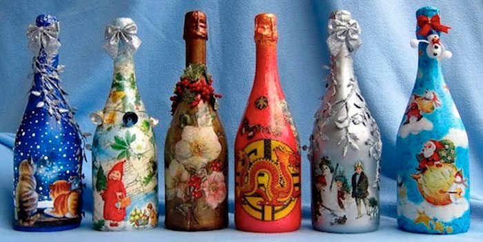 Декупаж шампанского своими руками фото 1