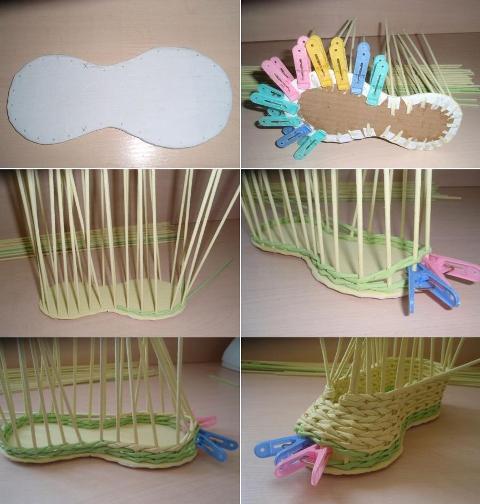 14 Как плести из трубочек для плетения: корзинки для начинающих с фото