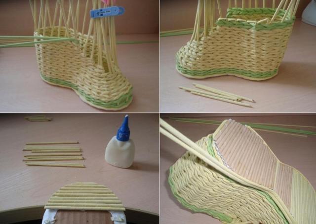 15-1 Как плести из трубочек для плетения: корзинки для начинающих с фото