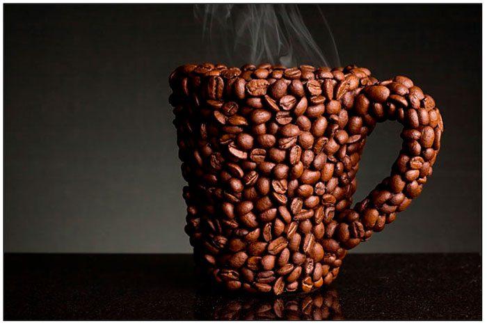 Кофейная кружка из зёрен кофе своими руками