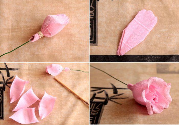 21-1-700x488 Роза из бумаги своими руками: красивые искусственные цветы (120 фото)