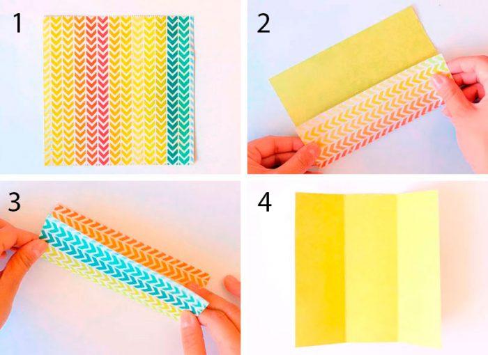 как сложить конверт оригами