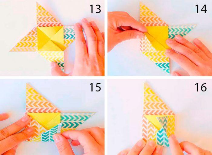 конверт оригами схема