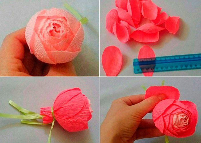 42-700x501 Как сделать розу из бумаги своими руками