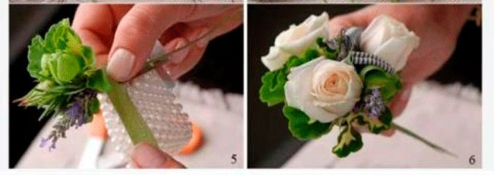 браслет из цветов